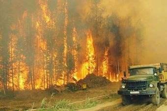 Сибирь, пожары,