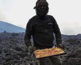 Шеф-повар-любитель, вулкан, пицца,