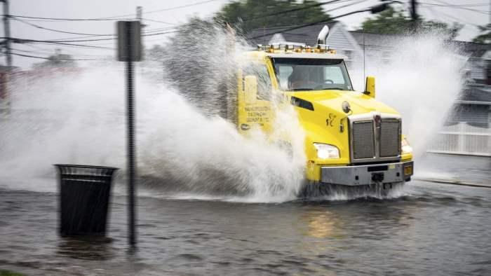 Эльза, шторм, Нью-Йорк,
