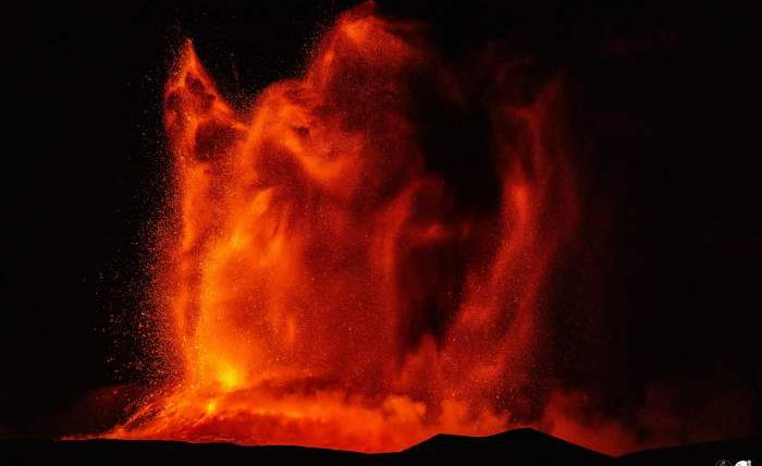 Этна, извержение,