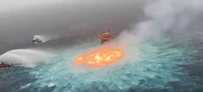 пожар, Мексиканский залив, трубопровод,