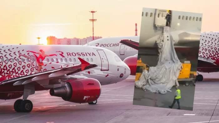 самолет, трап, Россия,