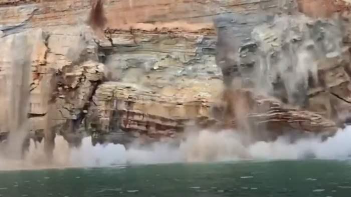 скала, США, обрушение,