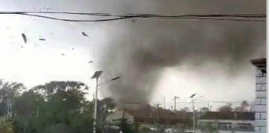 торнадо обрушился на Гуюань