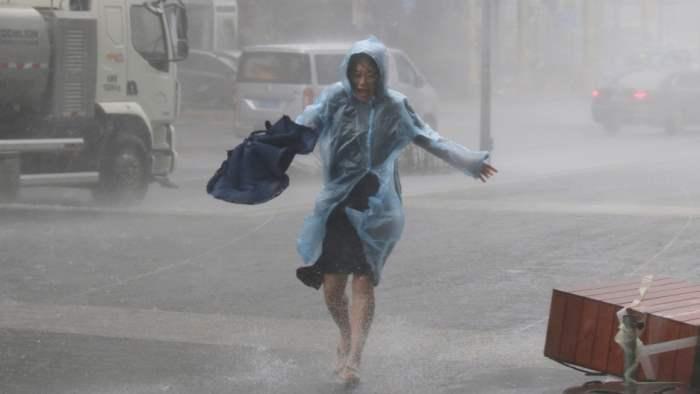 шторм, Китай, Цзинань, Шаньдун,