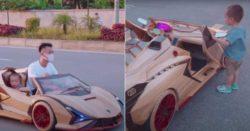 Папа из Вьетнама построил своему сыну полнофункциональный Lamborghini из дерева
