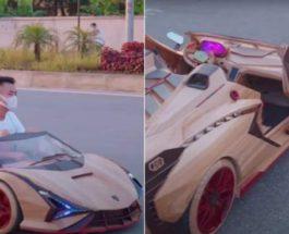 Lamborghini из дерева, детский автомобиль, Вьетнам,