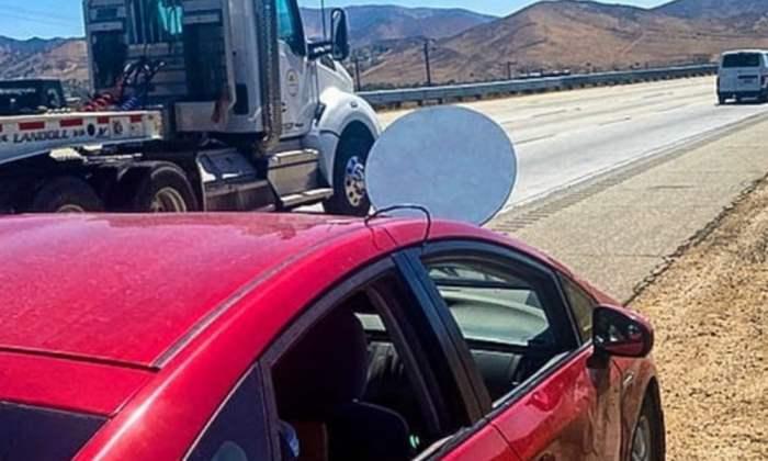 Starlink, спутниковая антенна, автомобиль,