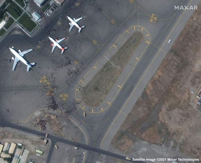 Афганистан, Кабул, спутник, аэропорт,
