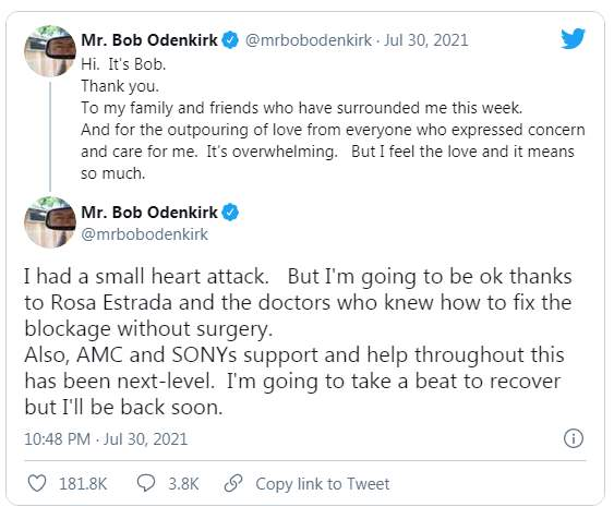 Боб Оденкирк, сердечный приступ,