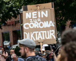 Германия, протест, covid,