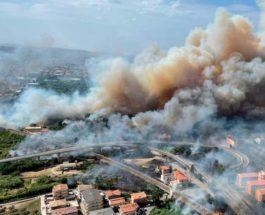 Италия, лесные пожары,