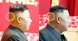 Странное зеленое пятно на затылке Ким Чен Ына