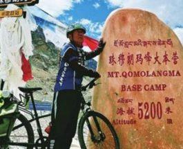 Китай, пенсионер, Эверест, велосипед,