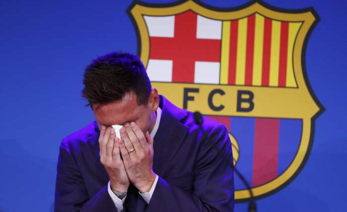 Лионель Месси, Барселона, прощание, плакал,