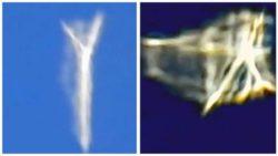 Меняющее форму НЛО засняли около самолета