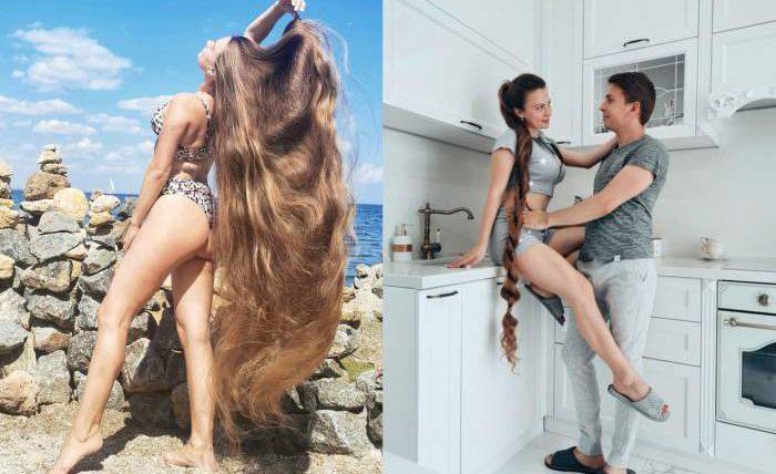 Настоящая Рапунцель, Алла Перкова, Украина, длинные волосы,