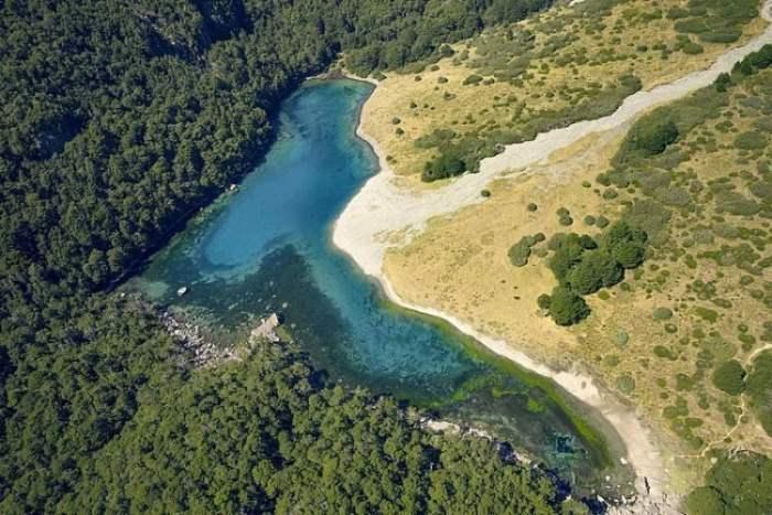 Ротомайревенуа, Голубое озеро, Новая Зеландия,