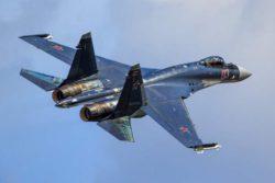 В Охотском море разбился российский истребитель Су-35С