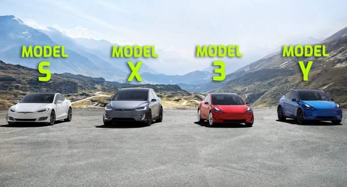 Тесла, Tesla, модельный ряд,