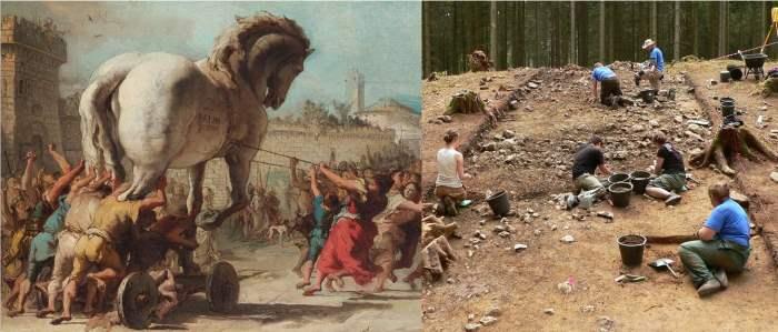 Троянский конь, Археология,