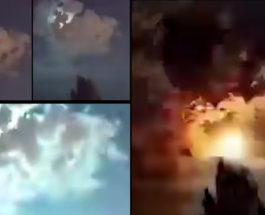 Турция, лесные пожары, метеор,