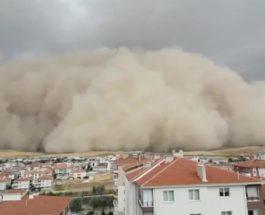 Турция, песчаная буря,
