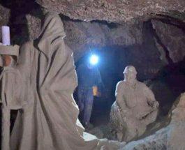 Украина, Оптимистическая пещера, пещера, мифические скульптуры,