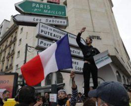 Франция, протесты, ковид,