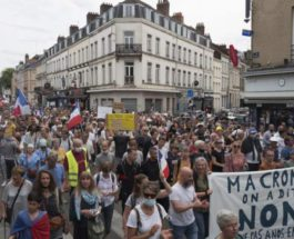 Франция, протесты, пропуск, COVID,