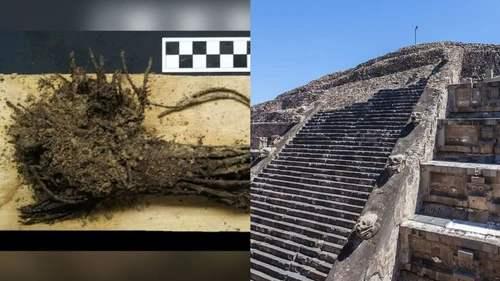 Храм Пернатого Змея, руины Теотиуакана, подношения,