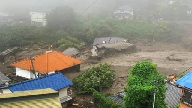 Япония, эвакуация, оползни,