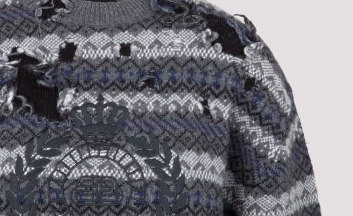 драный свитер, Balenciaga, мода,
