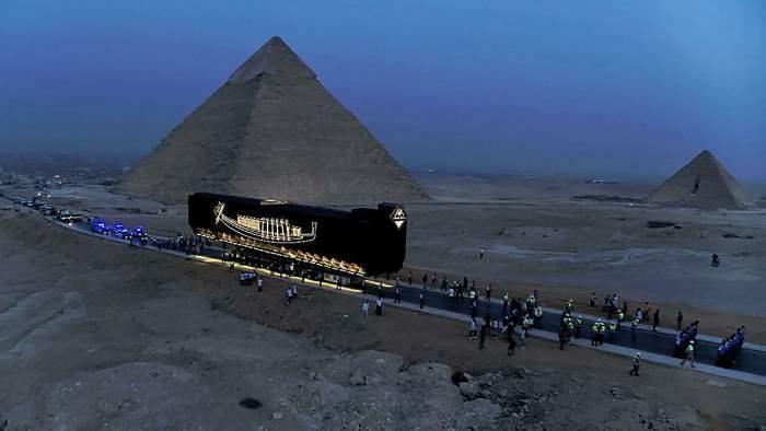 лодка Хеопса, Египет, перемещение,