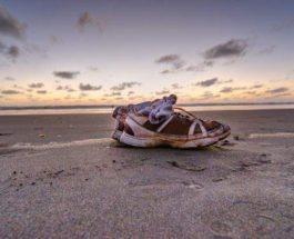 отрубленные ноги, США, берег, кроссовки,