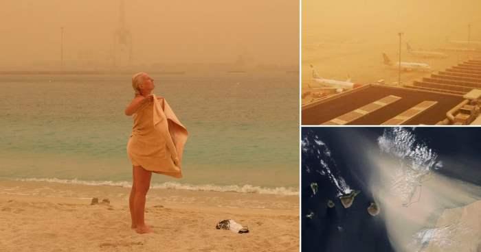 песчаная буря, Испания,