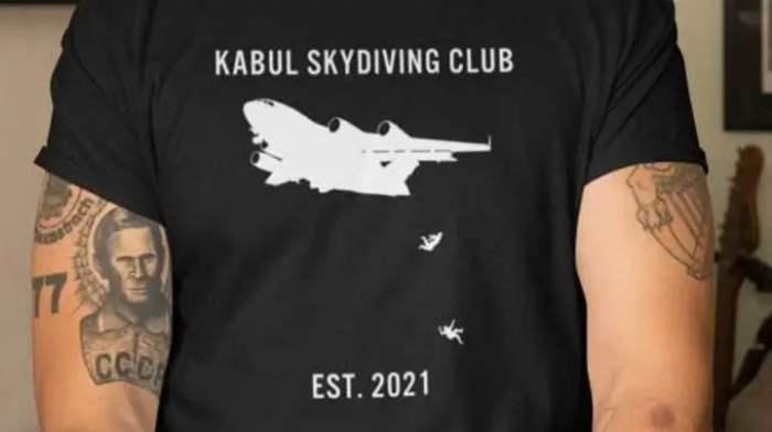 футболка, Кабул, падающие люди,