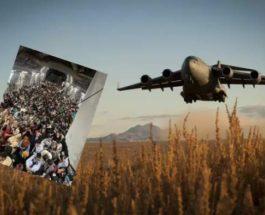 Boeing C-17A, Афганистан, люди, эвакуация,