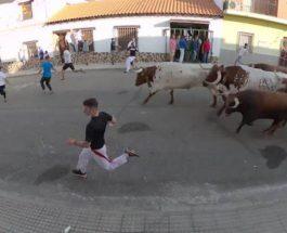 Испания, забег быков,