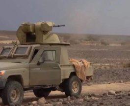 Йеменские хуситы, пушка, пикап, БТР-80А,