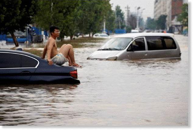 Китай, оползни, наводнения,
