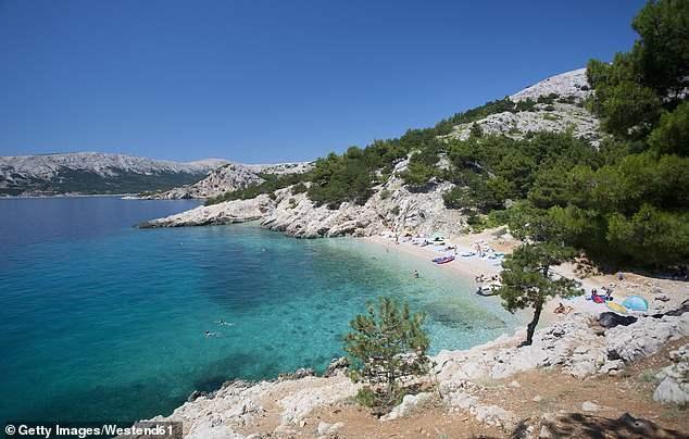Крк, остров, Хорватия, женщина,