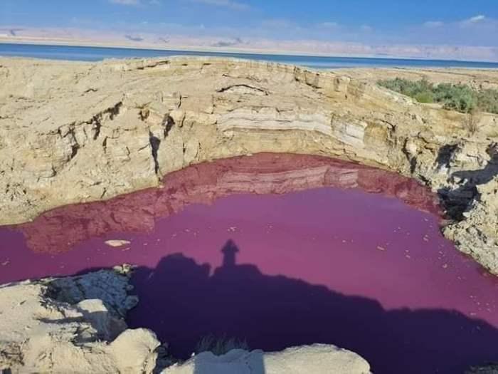Мертвое море, Иордан, красная вода,