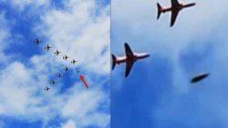 НЛО пролетел рядом с истребителями в Англии во время авиашоу (ВИДЕО)