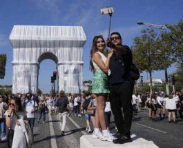 Париж, упаковка, триумфальная арка,