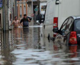 Франция, наводнение, погода,