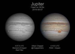 Огромный астероид поразил Юпитер (ВИДЕО)