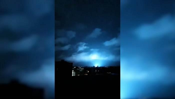 землетрясение, Мексика, световые вспышки,