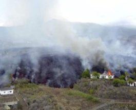 лава, вулкан, Кумбре-Вьеха, Ла-Пальма, Испания,