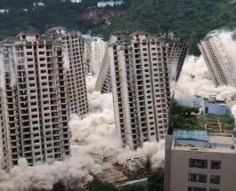 небоскребы, снос, взрыв,
